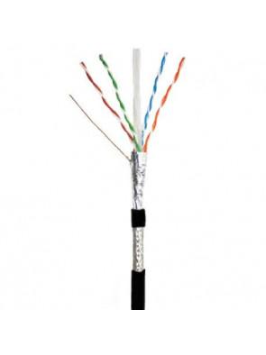 Câble réseau noir 50 m Cat 6 SFTP (double blindage) longueur non sertie