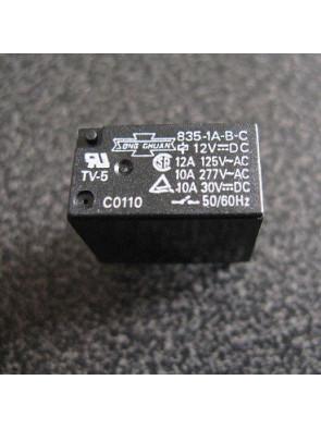 Relais 835-1A-B-C 12V 10A