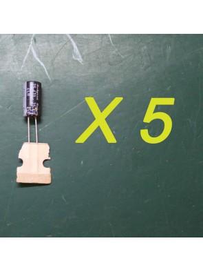 5 X Condensateur 25 V 470 uf