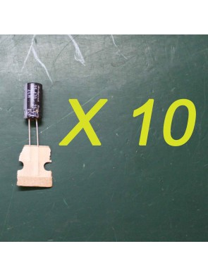 10 X Condensateur 25 V 470 uf