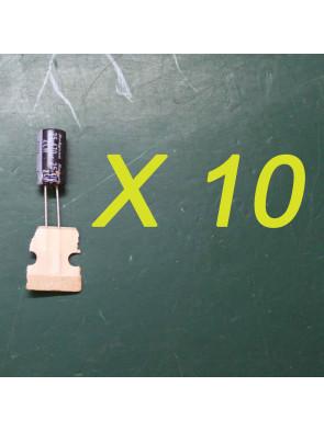 10 X Condensateurs 16 V 470 uf