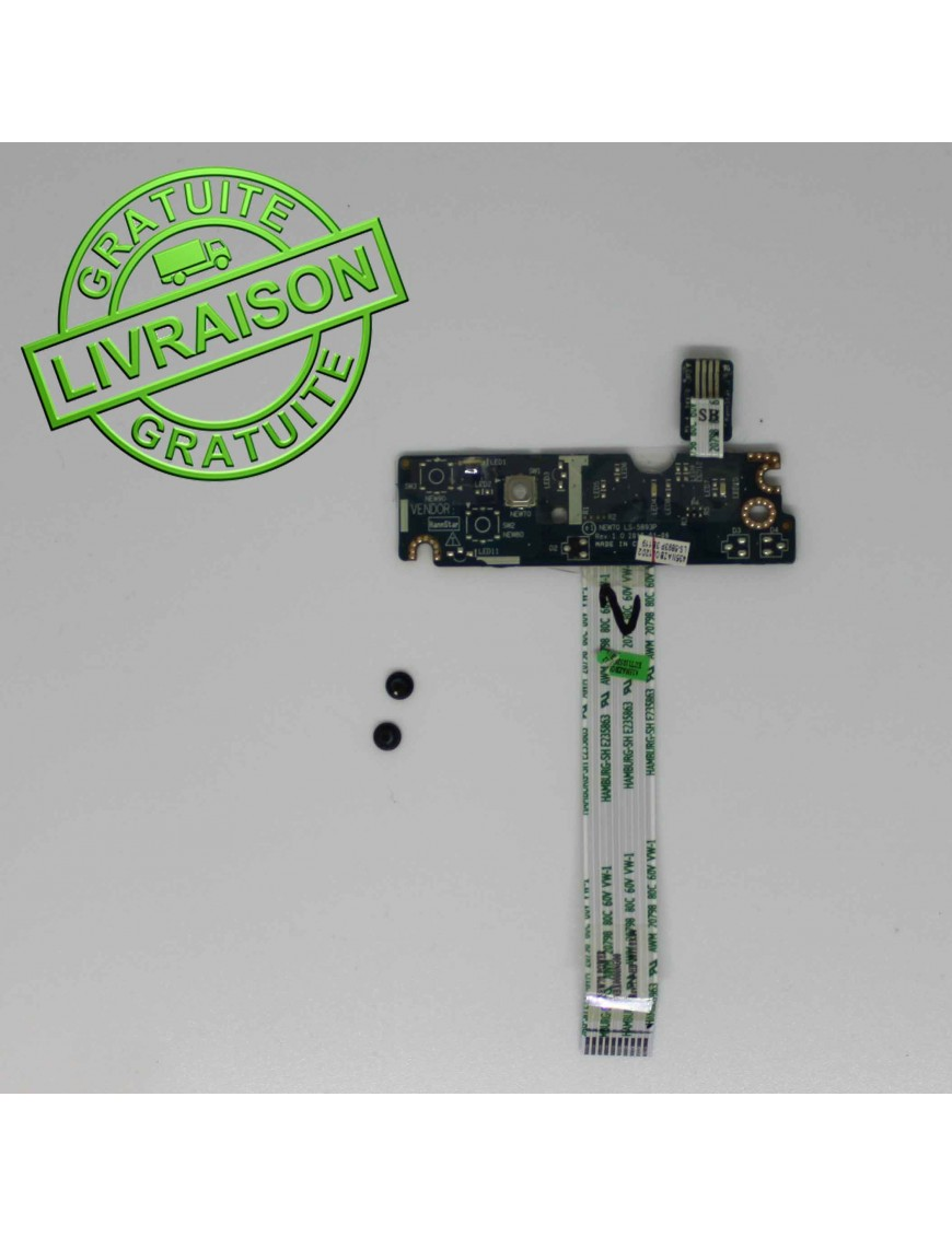Boutons d'alimentation Packard Bell Easynote TK81 SB PEW96 LS-5893p