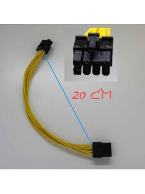 Rallonge cable d'alimentation 8 pin atx noire