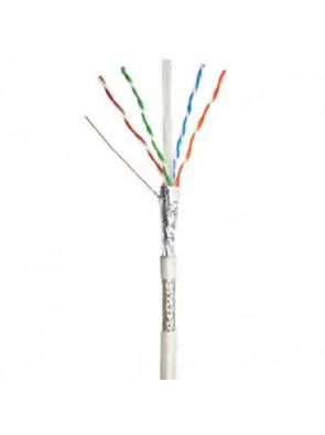 Cable reseau blanc 50 m Cat 6 SFTP (double blingage) longueur  non sertie