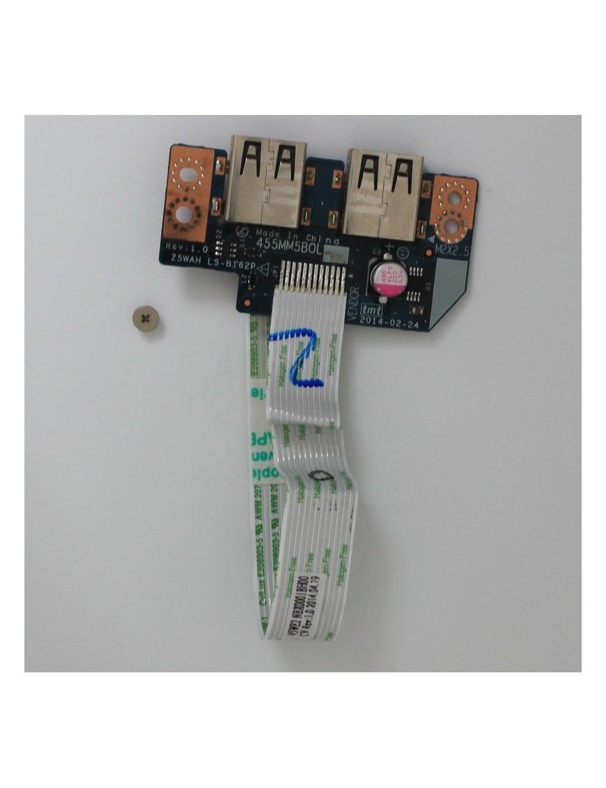 2 Ports USB + Nappe Pour Acer Aspire E5-511 - LS-B162P