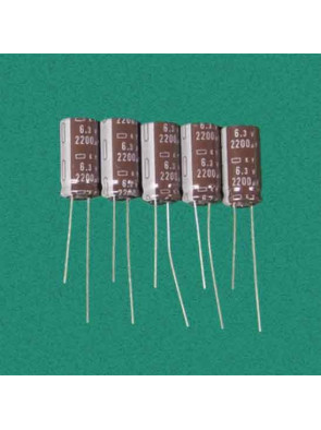 5 X Condensateur 6.3V 2200uf