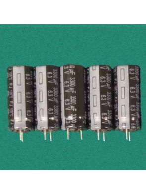 5 X Condensateur 6.3V 3300uf
