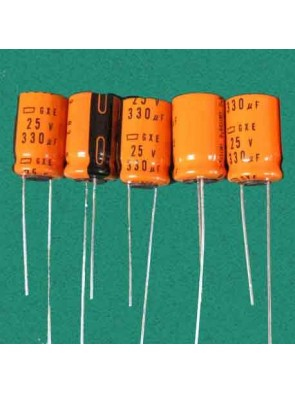 5 X Condensateur 25V 330uf
