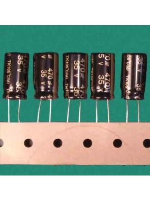 5 X Condensateur 35V 470uf