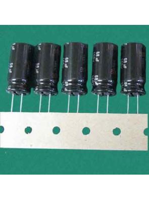 5 X Condensateur 160V 68uf