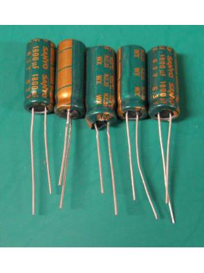 5 X Condensateur 6.3V 1800uf