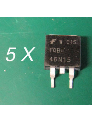 5 X Transistor FQB46N15 TO-263 FAIRCHIL 150V N-Channel MOSFET