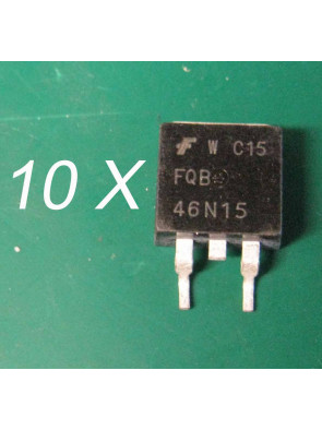 10 X Transistor FQB46N15 TO-263 FAIRCHIL 150V N-Channel MOSFET
