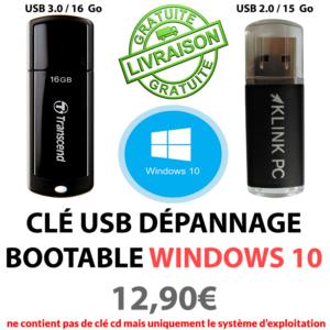 Clé usb bootable kpc W10