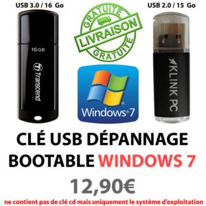 Clé usb bootable kpc W7
